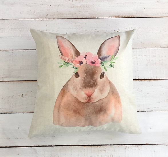 Woodland Bunny Pillow Cover
