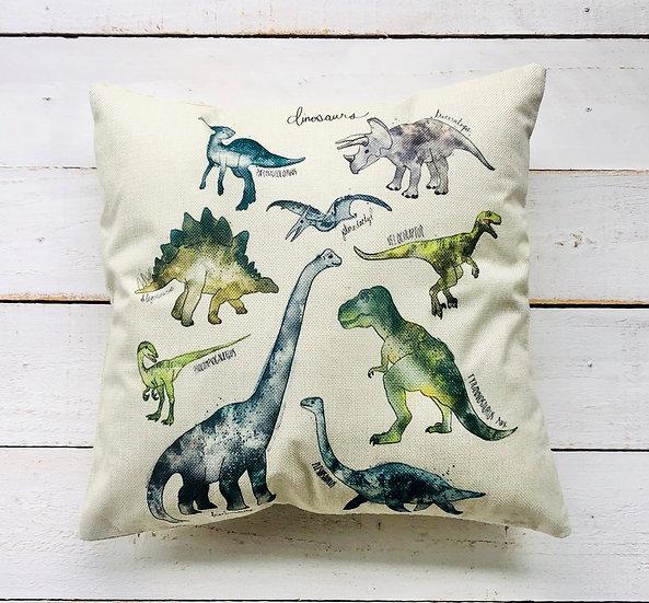 Dino Pillow Cover