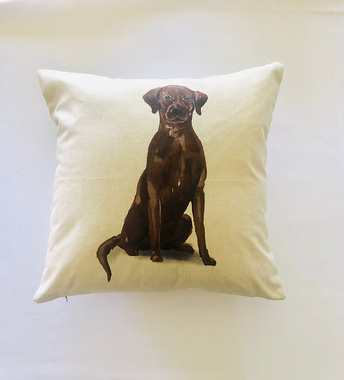 Brown Lab Pillow Cover