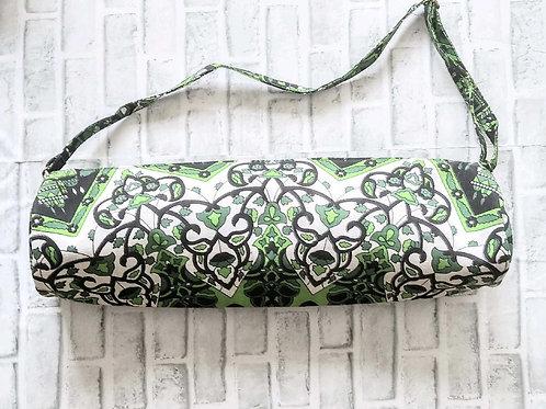 Green and Black Mandala Yoga Bag