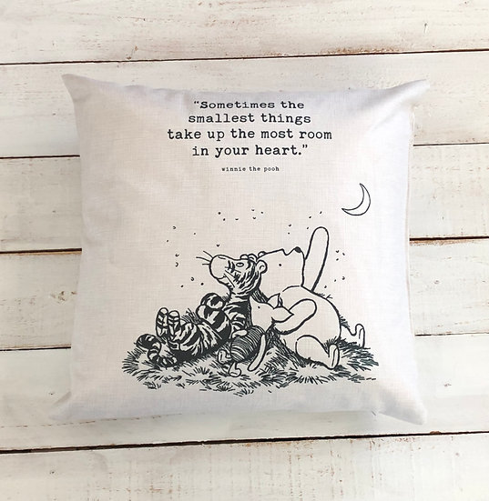 Winnie The Pooh Smallest Things Pillow Cover