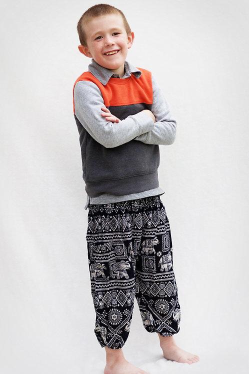 Kids Classic Black Harem Pants