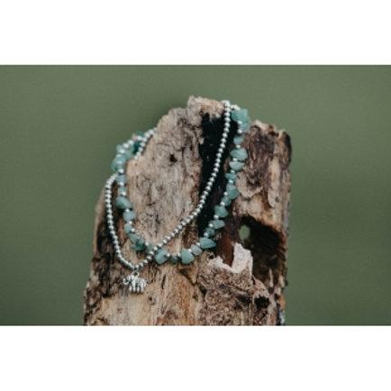 Silver Elephant Charm Anklet Bracelet