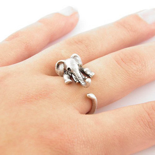 Lucky Elephant Adjustable Ring