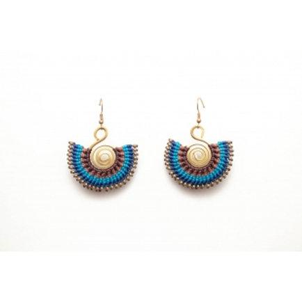 Blue Boho Earring