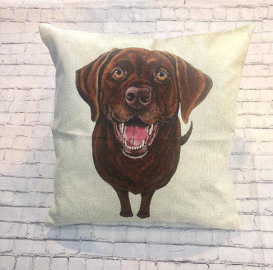 Chocolate Lab Pillow Cover