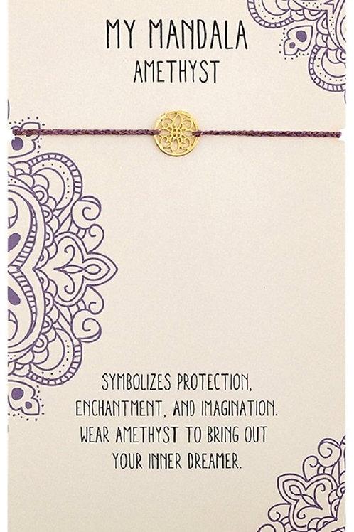 Mandala AMETHYST Bracelet