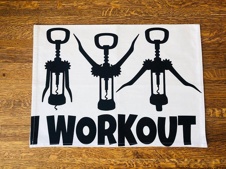 I Workout Tea Towel