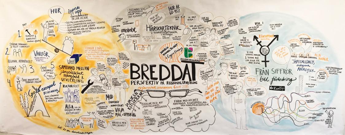 Mötestecknare vid konferens Breddat perspektiv