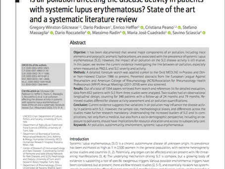 Is air pollution affecting disease activity in patients with systemic lupus erythematosus?