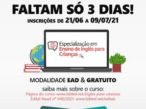 Curso de Especialização em Ensino de Inglês para Crianças