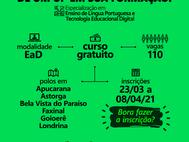 Novo edital: Especialização em Ensino de Língua Portuguesa e Tecnologia Educacional Digital