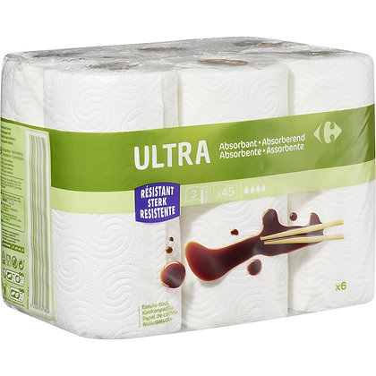 Essuie-tout Ultra absorbant | CARREFOUR