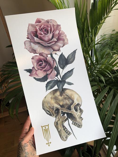 Skull & Roses Print