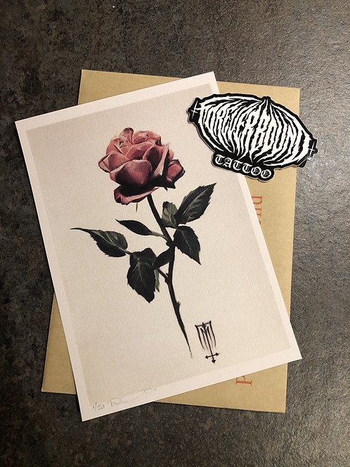 A5 Rose Print