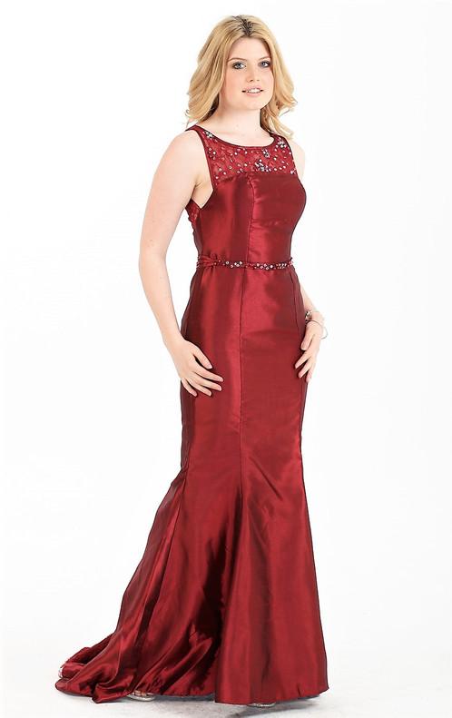 Gorgeous Beaded Waist Neckline Formal Dress Size 8 S