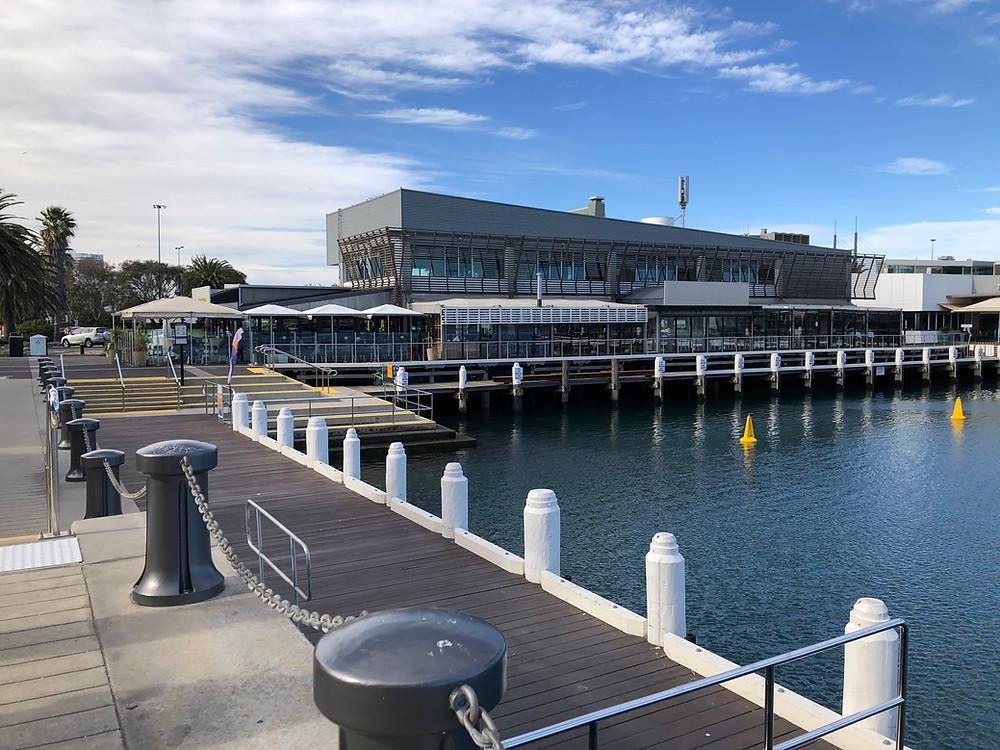 Restaurants on the pier overlooking the water