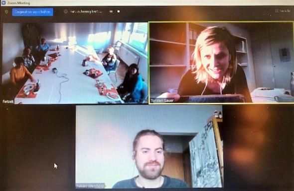 Die Teilnehmenden des Interviews bei den Lebensräumen Hoyerswerda eG.