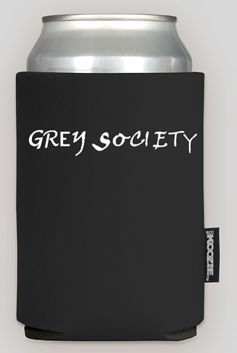 Grey Society Beer Coozie