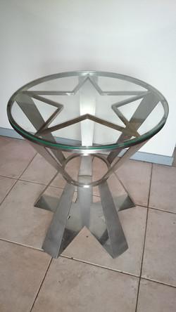 table, inox, métallier bordeaux