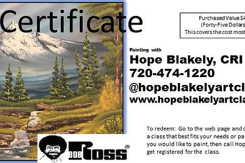 Certificate $45