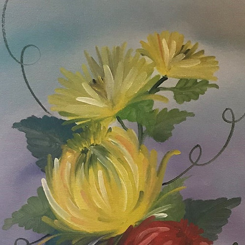 Learn to paint basic flowers