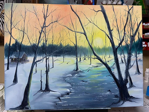 Learn to paint Bob Ross style