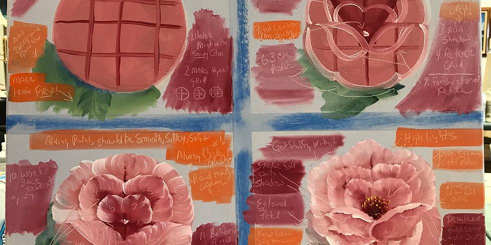 Rose Floral Class - Bi Centennial Art Center