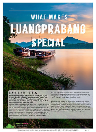 What Make Luangprabang Special