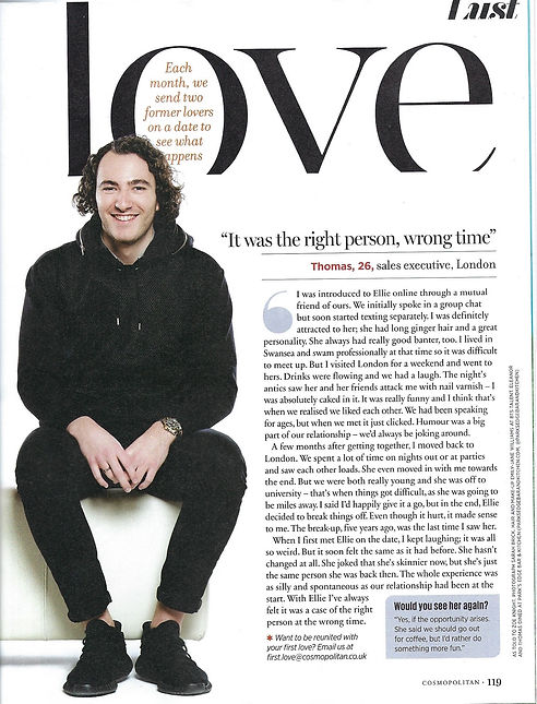 First Love Cosmopolitan August 2019