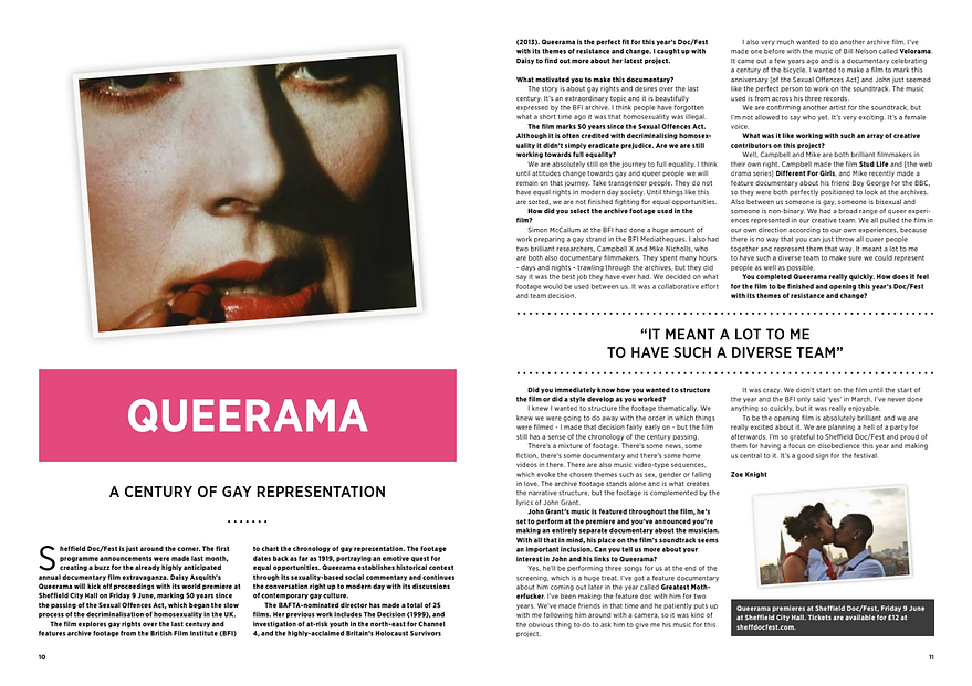 Daisy Asquith Queerama Interview Now Then Sheffeld