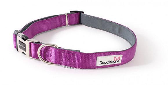 Doodlebone Padded Bold Collar in Purple