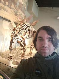 Miles Greb museum stegasaurus