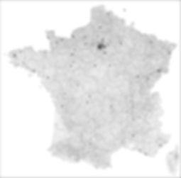 FRANCE Carte des sites de projet ou d'étude réalisés par AGENCE BRUN