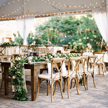 Bentwood Tables and Greenery
