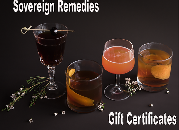 Sovereign Remedies Gift Certificate