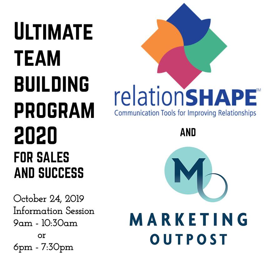 Ultimate Team Building Program Information Session AM