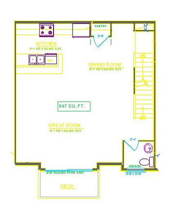 TWO BEDROOM UNIT FIRST FLOOR THE COMMONS AT BOYSON PARK