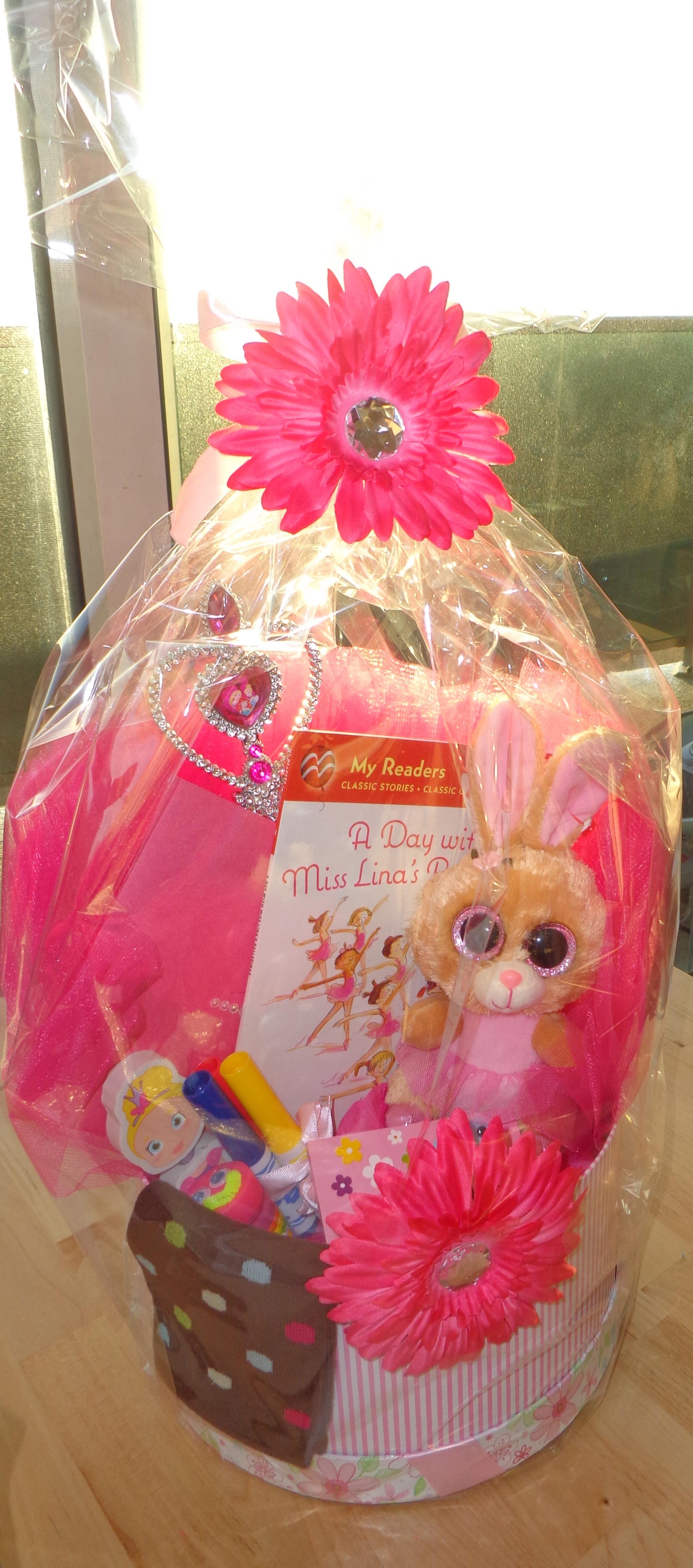 Ballerina themed gift basket.