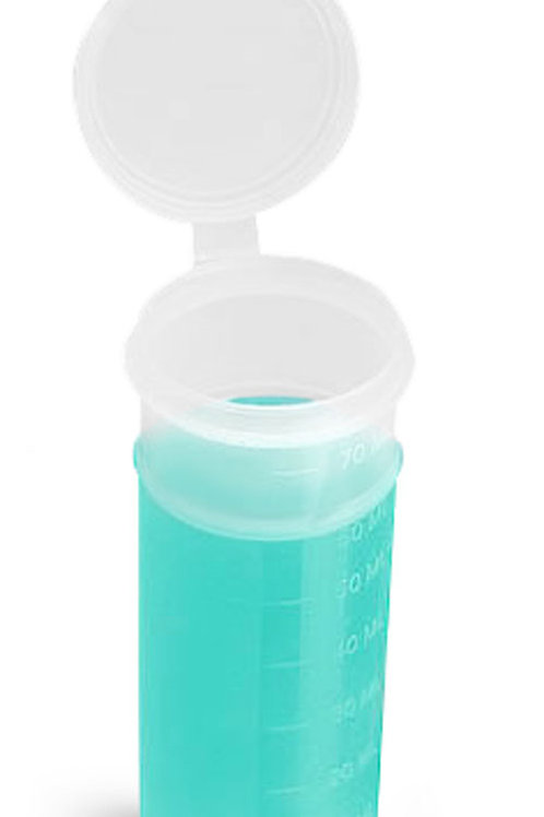 0741-05  Envase Polypropileno 70 ml C/Tapa   Pack: 8 Pzas.