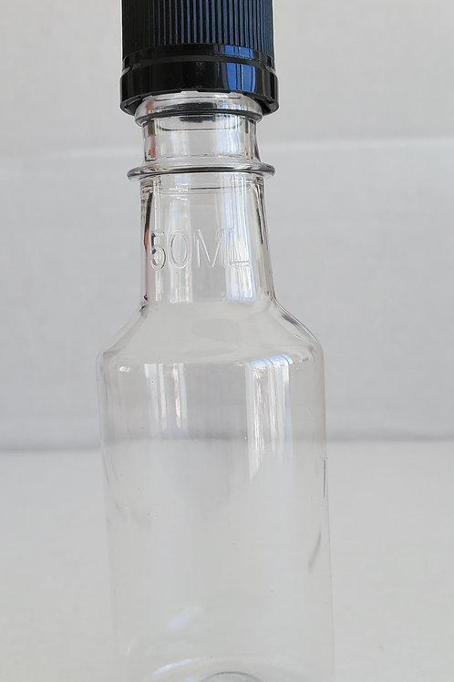Envase Plastico Salsero 50 ml C/Tapa Negra  Pack