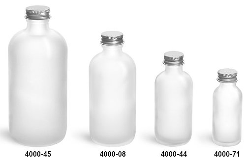 4000-45 Envase Cristal Boston Frosted 240 Ml C/Tapa Paq 10 Pzas