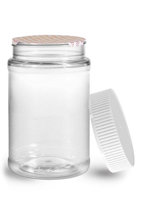 0631-14 Envase Plastico 470 gr C/Tapa Plastica Paq. 21 Pzas