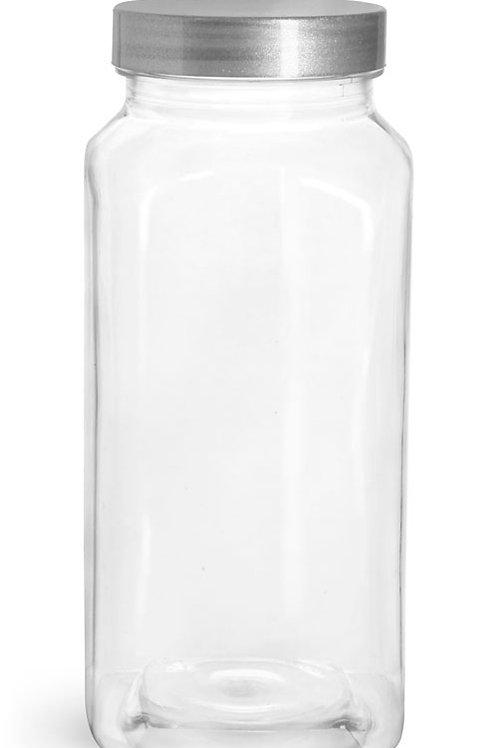 0059-39  Envase PET 480ml Tapa Silver Pack: 10 Pzas
