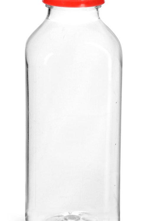 0063-06 Envase PET 480gr C/Tapa Roja   Pack: 8Pzas.