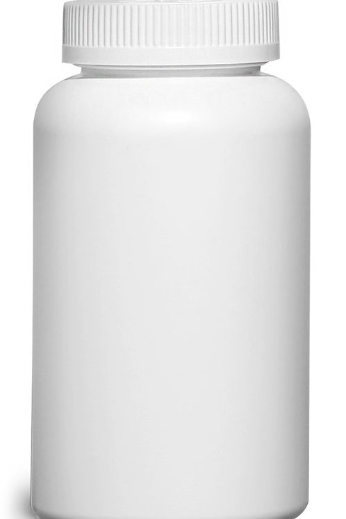 0153-21  Envase Plastico HDPE Bco.500 gr C/Tapa A Pruba De Niños