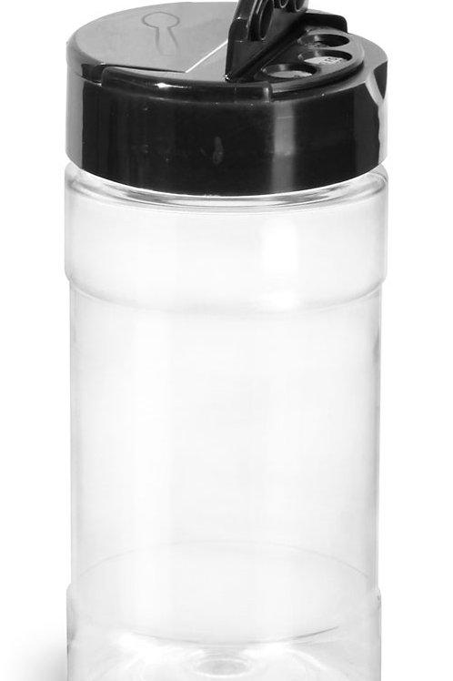 0108-06  Especiero Plastico 240 gr C/Tapa Dosificadora Paq 18 Pzas