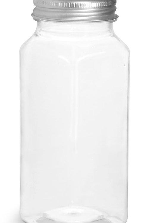 0059-06 Envase PET 240 gr Cuadrado C/tapa Alum Paq 22 Pzas