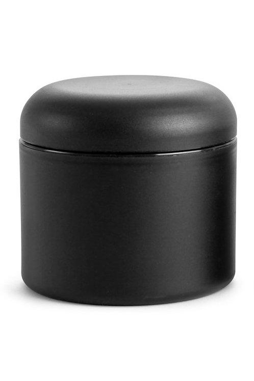 0637-02 Tarro Plastico Negro Mate 120 gr C/Tapa