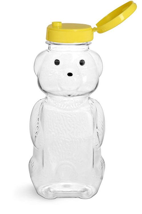 0072-02  Envase Plastico Para Miel Oso 240 ml  Paq. 22 Pzas.